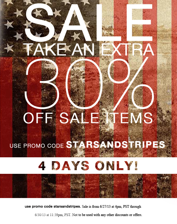 Take an EXTRA 30% off SALE!
