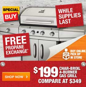 $199 Char-Broil 4-Burner Gas Grill