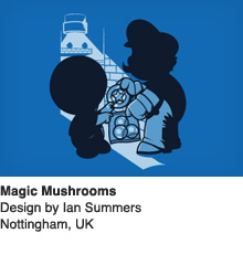 Magic Mushrooms - Design by Ian Summers / Nottingham, UK
