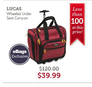LUCAS Wheeled Under Seat Carry-on. Shop Now.