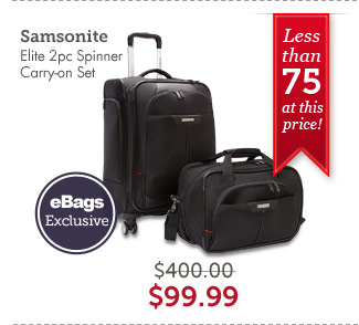 Samsonite Elite 2pc Spinner Carry-on Set. Shop Now.