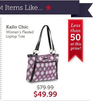 Kailo Chic Women's Pleated Laptop Tote. Shop Now.