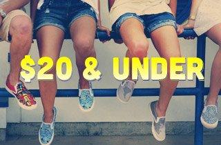 Footwear $20 & Under