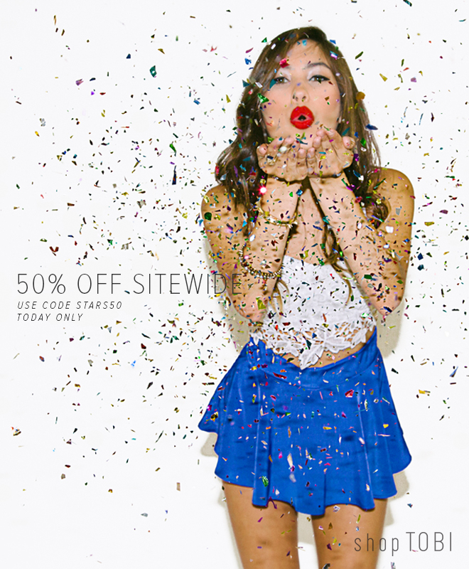 50% Off Sitewide - Today Only
