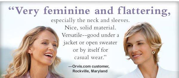 """Very feminine and flattering"""