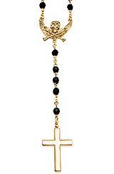 The Forbidden Rosary Necklace in Gold