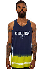 The Greco Fade Tank Top in Dark Navy and Mantis
