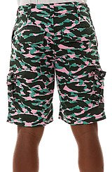 The Camo Cargo Short in Darkest Spruce