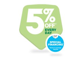 5% off* Every Day