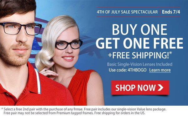 4th of July Buy 1 Get Free - Limited Time Offer!