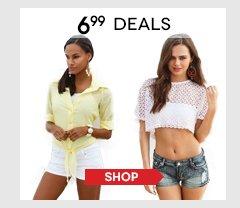Hurry, shop all $6.99 Deals!