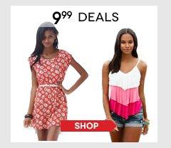 Hurry, shop all $9.99 Deals!