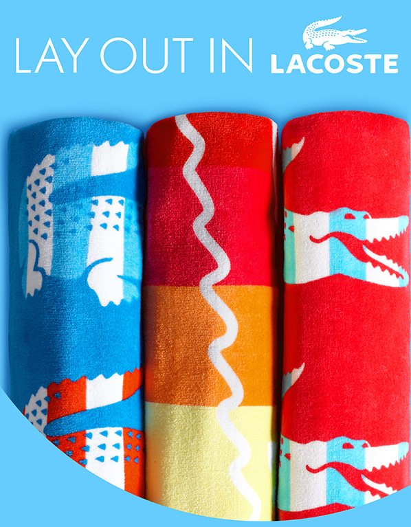 LAY OUT IN LACOSTE