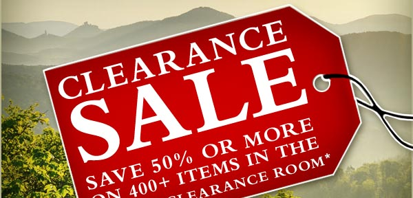 Shop the clearance room sale