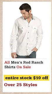 Mens Red Ranch Shirts on Sale