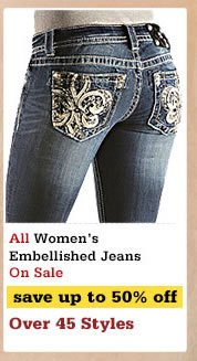 Womens Embellished Jeans on Sale