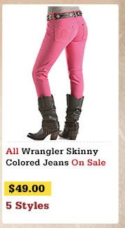 Wrangler Skinny Colored Jeans on Sale