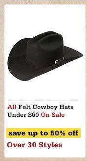 Felt Cowboy Hats Under60