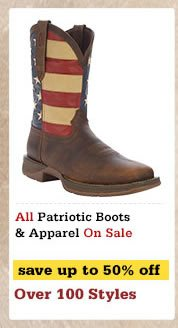 Patriotic Boots and Apparel on Sale