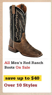 Mens Red Ranch Boots on Sale