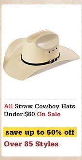 Straw Cowboy Hats Under 60