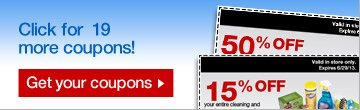 Click  for 19 more coupons! Get your coupons.