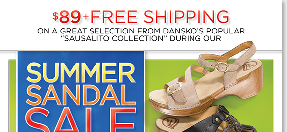 Save on a great selection of Dansko sandals from the popular Sausalito Collection, now just $89! Plus, save on more great styles during our Summer Sandal Sale and enjoy FREE Shipping!* Find the best selection when you shop online and in-stores at The Walking Company.