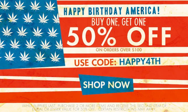 Buy 1, Get 1 50% OFF orders over $50 | Use Code: HAPPY4TH