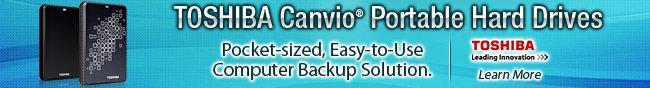 Toshiba Canvio Portable hard Drives