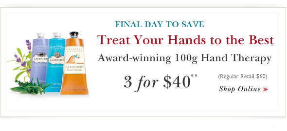 100g Hand Therapy Offer. Shop Online.