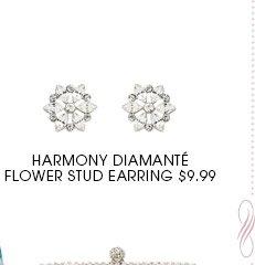 Flower stud earring