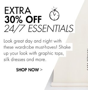 CELEBRATE THE WEEKEND WITH AN EXTRA 30% OFF
