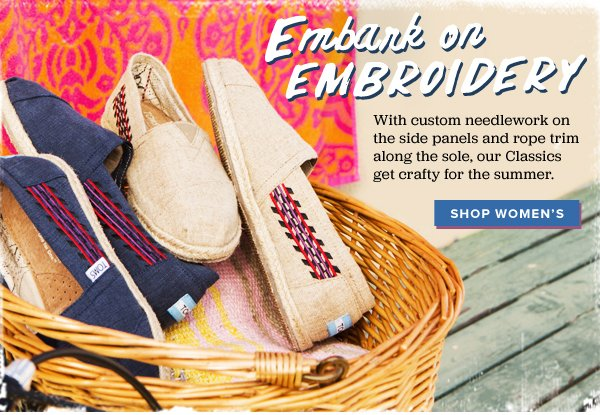 Embark on embroidery - shop Women's