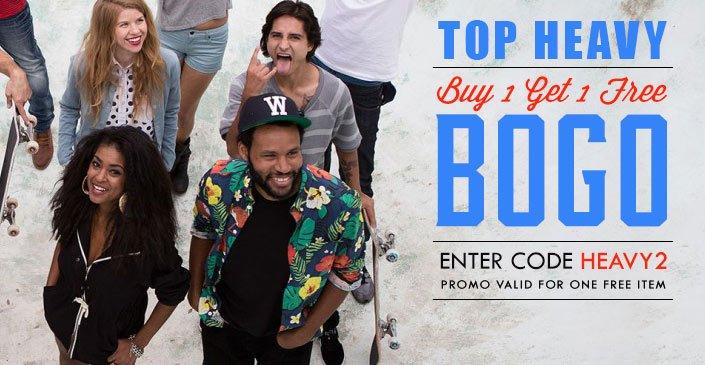 Top Heavy: Buy 1, Get 1 Free