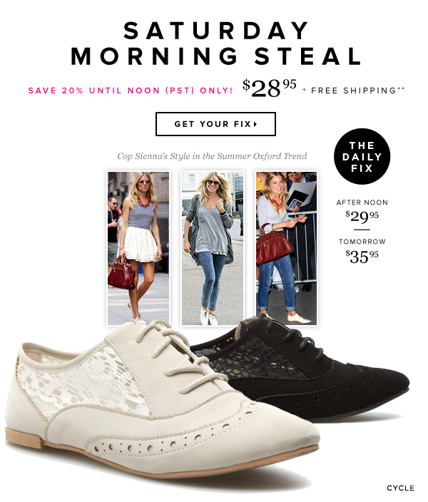 Saturday Morning Steal 1-Day-Only Pricing + Free Shipping** - - Get Your Fix