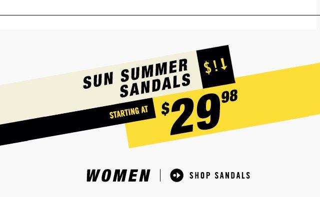 SUN SUMMER SANDALS - STARTING AT $29.98 - SHOP WOMEN'S SANDALS
