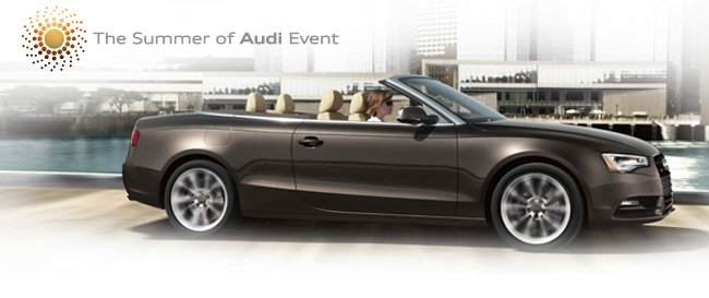 Find exceptional values at the Summer of Audi Event