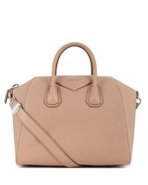Givenchy Brand Name Embellished Leather Satchel Made In Italy
