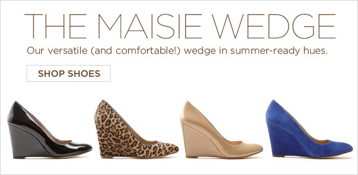THE MAISIE WEDGE | Our versatile (and comfortable!) wedge in summer-ready hues. SHOP SHOES