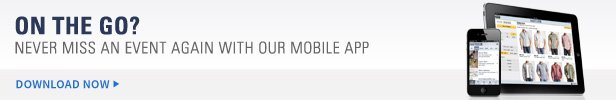 On the go? Never miss an event again with our mobile app | Download Now