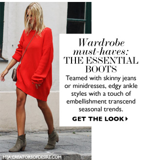 Wardrobe must-haves: THE ESSENTIAL BOOTS. SHOP NOW