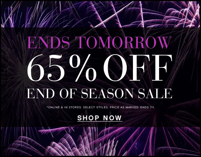 65% OFF Summer Sale Ends Tomorrow! style=