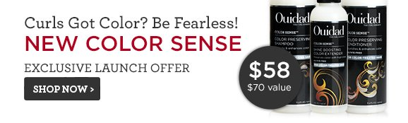 Curls Got Color? Be Fearless! NEW COLOR SENSE Exclusive Launch Offer