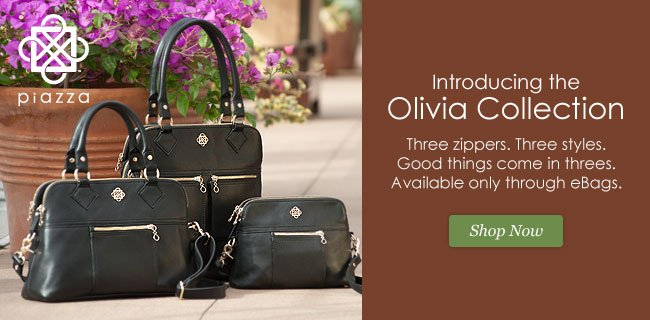 Introducing the Olivia Collection from Piazza. Shop Now