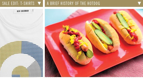 Sale Edit: T-Shirts | A Brief History Of The Hotdog