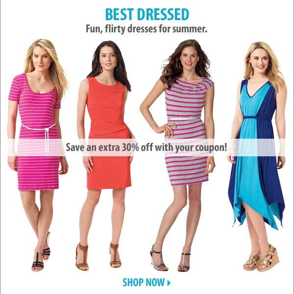 Best dressed. Fun, flirty dresses for summer. Save an extra 30% off with your coupon! Shop now.