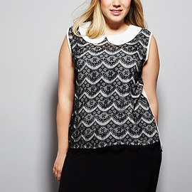 Black & White: Plus-Size Apparel