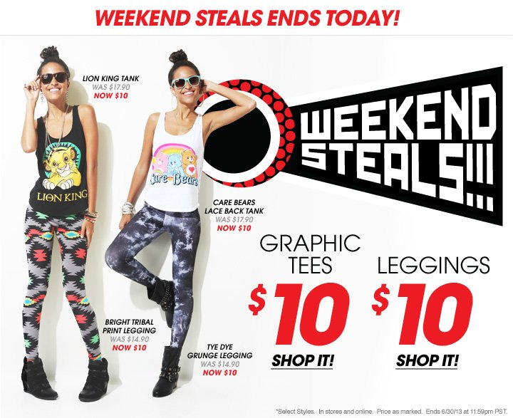 Weekend Steals Ends Today