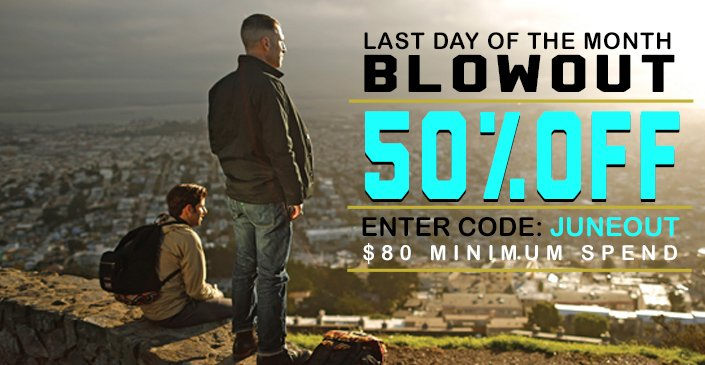 Blowout: 50% Off, Spend $80