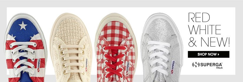 RED WHITE & NEW! SHOP NOW